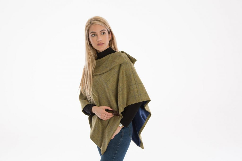 Melissa Short Tweed Cape